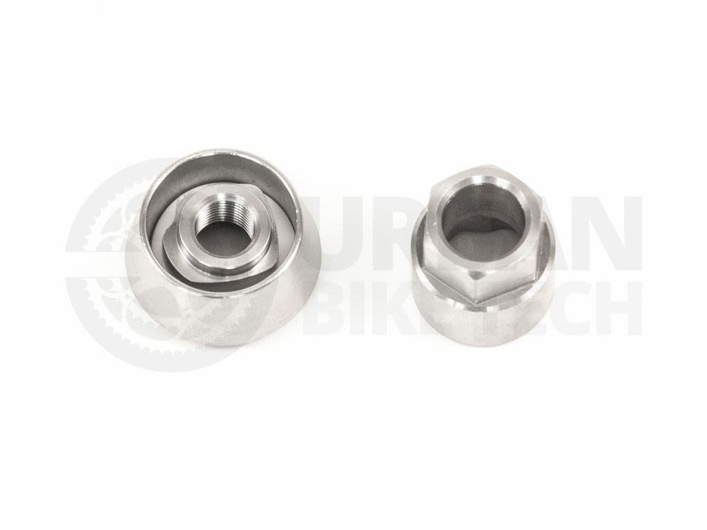 """NOS//Take-Off Pair Shimano Alloy Wing Nuts 5//16/"""" x 26tpi for Front Wheel Hub Axle"""